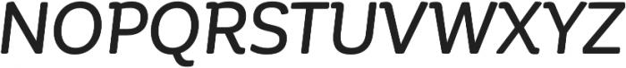 Corporative Soft Alt Medium It otf (500) Font UPPERCASE