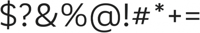 Corporative otf (400) Font OTHER CHARS