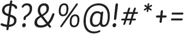 CorporativeSansRd Regular It otf (400) Font OTHER CHARS