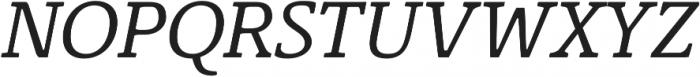 Corzinair Italic otf (400) Font UPPERCASE