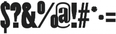Costa bold otf (700) Font OTHER CHARS