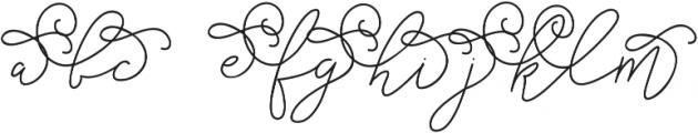 Cottage Market Script - Alt 1 ttf (400) Font LOWERCASE