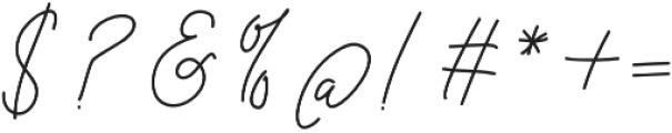 Cottage Market Script otf (400) Font OTHER CHARS