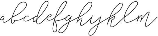 Cottage Market Script otf (400) Font LOWERCASE