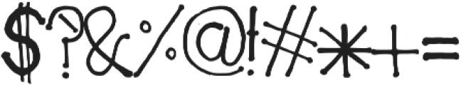 Cotton Buddy otf (400) Font OTHER CHARS