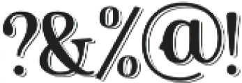 Countdown Ville Shadow otf (400) Font OTHER CHARS