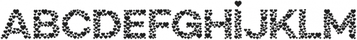 Countless Hearts otf (400) Font UPPERCASE