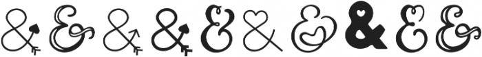 Couple vol1 Regular otf (400) Font OTHER CHARS