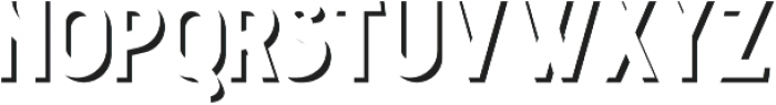 Courageous Shadow otf (400) Font LOWERCASE
