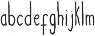 Courtny otf (400) Font LOWERCASE