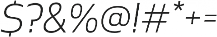 Cover sans Light italic otf (300) Font OTHER CHARS