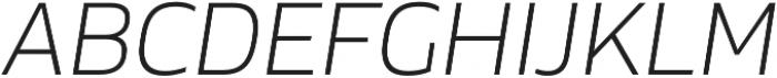 Cover sans Light italic otf (300) Font UPPERCASE