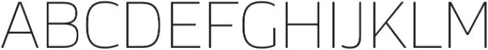 Cover sans Thin otf (100) Font UPPERCASE