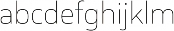 Cover sans Thin otf (100) Font LOWERCASE