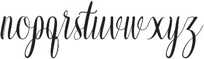 confident ttf (400) Font LOWERCASE