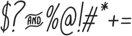 cookies&milk Italic otf (400) Font OTHER CHARS