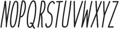 cookies&milk Italic otf (400) Font UPPERCASE