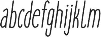 cookies&milk Italic otf (400) Font LOWERCASE