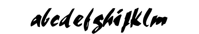 Cocoa Italic Font LOWERCASE
