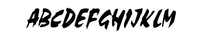 Cocoa Thin Italic Font UPPERCASE