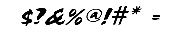 Cocoa Wide Italic Font OTHER CHARS