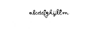 Colette.otf Font LOWERCASE
