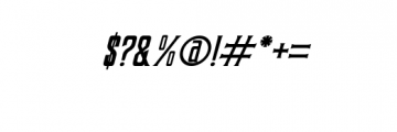 Coprost Italic.otf Font OTHER CHARS
