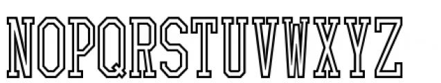 Collegiate 3  Outline Font UPPERCASE