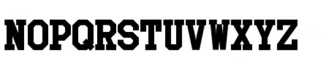 Collegiate 3 Solid Font LOWERCASE