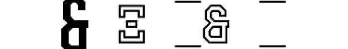 Collegiate Greek Monograms Mix B Three Font OTHER CHARS