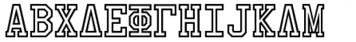 Collegiate Greek Monograms Mix B Three Font LOWERCASE