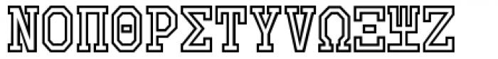 Collegiate Greek Monograms Outline Three Font LOWERCASE