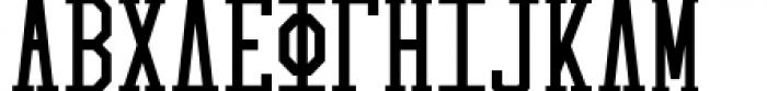 Collegiate Greek Monograms Solid Three Font UPPERCASE