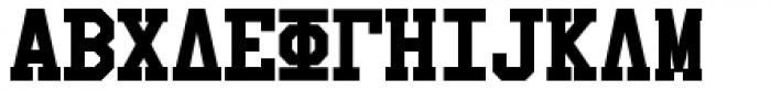 Collegiate Greek Monograms Solid Three Font LOWERCASE