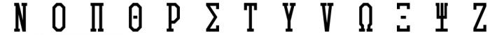 Collegiate Greek Monograms Solid Font LOWERCASE