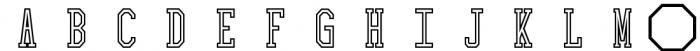 Collegiate Outline Font LOWERCASE