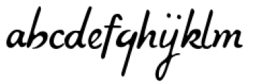 Compliments Upright Font LOWERCASE