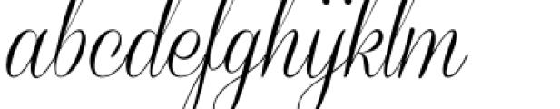Coneria Script Light Font LOWERCASE