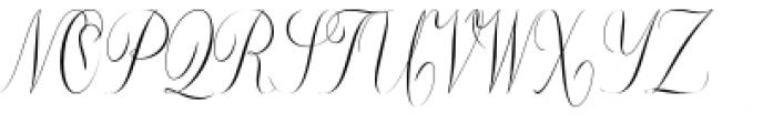 Constancia Script Regular Font UPPERCASE