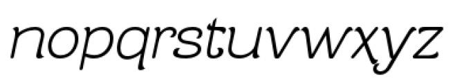Contra Flare Light Italic Font LOWERCASE