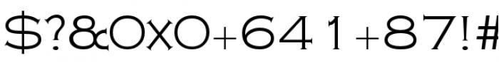 Copperplate Class Light Regular Font OTHER CHARS
