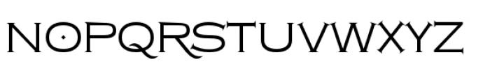 Copperplate Class Light Regular Font LOWERCASE
