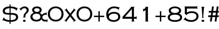 Copperplate Class Medium Regular Font OTHER CHARS