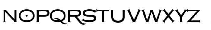 Copperplate Class Medium Regular Font LOWERCASE