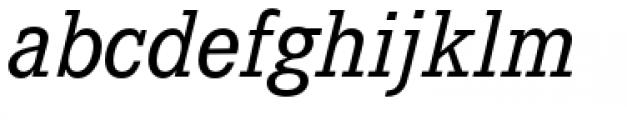 Corporate E Italic Font LOWERCASE