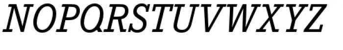 Corporate E Medium Italic Font UPPERCASE