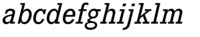 Corporate E Medium Italic Font LOWERCASE