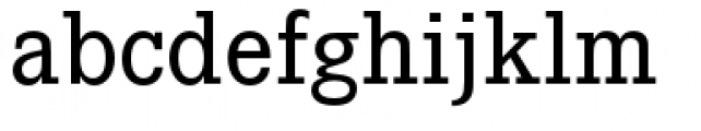 Corporate E Medium Font LOWERCASE