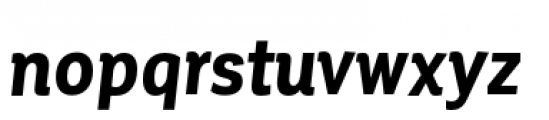 Corporative Condensed Bold Italic Font LOWERCASE