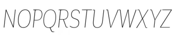 Corporative Condensed Hair Italic Font UPPERCASE
